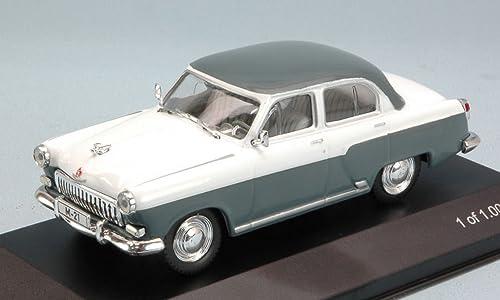 blancBOX WB134 WOLGA M-21 1959 gris blanc 1 43 MODELLINO DIE CAST MODEL