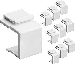 Cmple - Blank Keystone Jack Inserts for Keystone Wallplate - 10 Pack, White