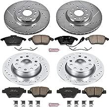 Power Stop K5801 Front & Rear Brake Kit with Drilled/Slotted Brake Rotors and Z23 Evolution Ceramic Brake Pads