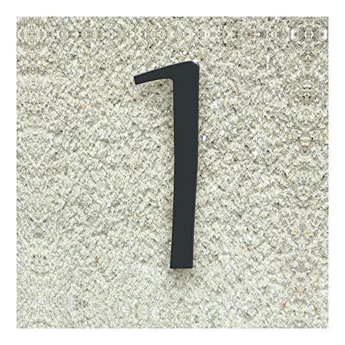 Colours-Manufaktur Hausnummer Nr. 1 - Schriftart: Klassisch - Höhe: 20-30 cm - viele Farben wählbar (RAL 7016 anthrazitgrau (anthrazit grau) glänzend, 20 cm)