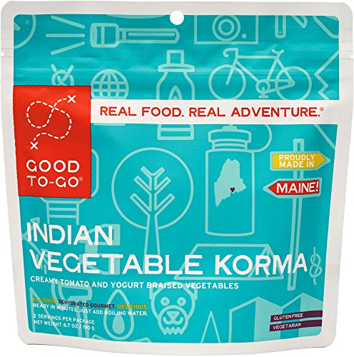 GOOD TO-GO Indian Vegetable Korma - Double Serving | Dehydrated Backpacking and Camping Food | Lightweight | Easy to Prepare
