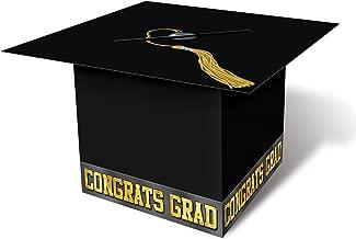 Grad Cap Card Box (black) Party Accessory  (1 count) (1/Pkg)
