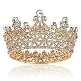 Queen Crowns for Women Gold - Tiaras and Crowns for Women Wedding, Princess Crystal Tiara Crown, Headband Hair Accessories for Birthday Pageant Prom Bridal Party