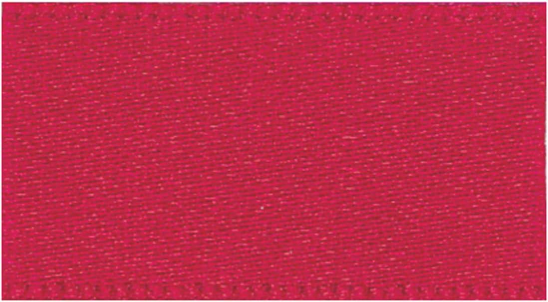 Berisfords 3501 10 mm Rosa Oscuro 401 10,5 x 1,5 cm de Cinta Satinada por ambas de poli/éster de Doble Cara Color Rosa
