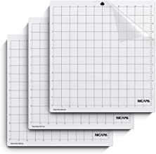 Nicapa Standardgrip Cutting Mat for Silhouette Cameo 4/3/2/1, Adhesive&Sticky Mat 12x12 inch,3pack Non-Slip Flexible Gridd...