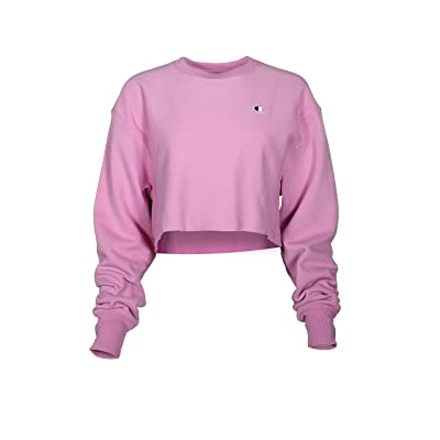 Champion LIFE Reverse Weave(r) Cropped Cut Off Crew (Paper Orchid) Women