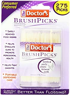 The Doctor's BrushPicks Interdental Toothpicks | Helps Fight Gingivitis| 275 Count (Pack of 1)