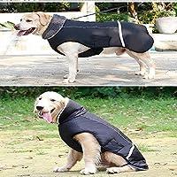 毛皮のような襟付きの反射ペット犬のコート、子犬用の防寒ジャケットベストアパレル、防水防風服ソフトフリースの裏地