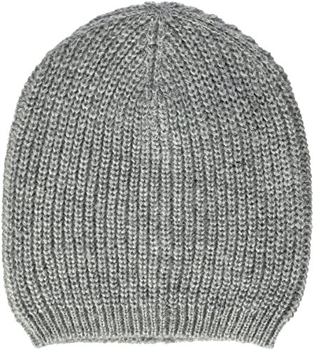 TOM TAILOR Denim Damen Basic Rib Beanie Strickmütze, Grau (Light Silver Grey 2973), One Size
