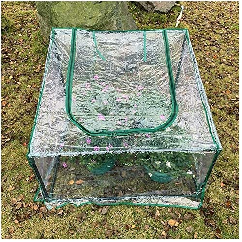 SOAR Garden Greenhouse Greenhouses Gardening Balcony Succulents Insulation Shed Winter Vegetables Cold Protection Antifreeze (Color : Clear, Size : 90x90x69cm)