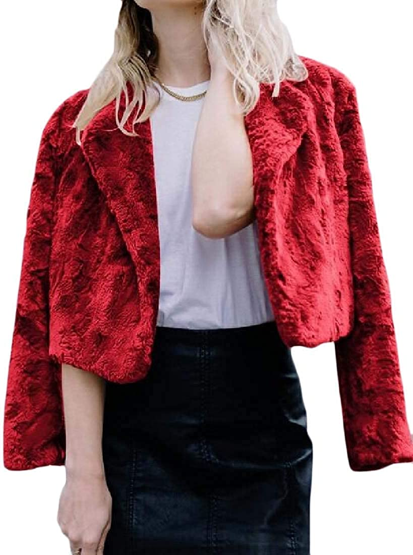 Women's Fall-Winter Outerwear Thicken Faux-Warm Jacket Coat