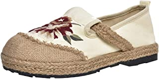 Women's Cloth Shoes Embroidered National Style Thick Bottom Flat Casual Single Shoes