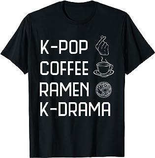 تی شرت Hangul K-Pop Coffee Ramen K-Drama Funny Girl کره ای