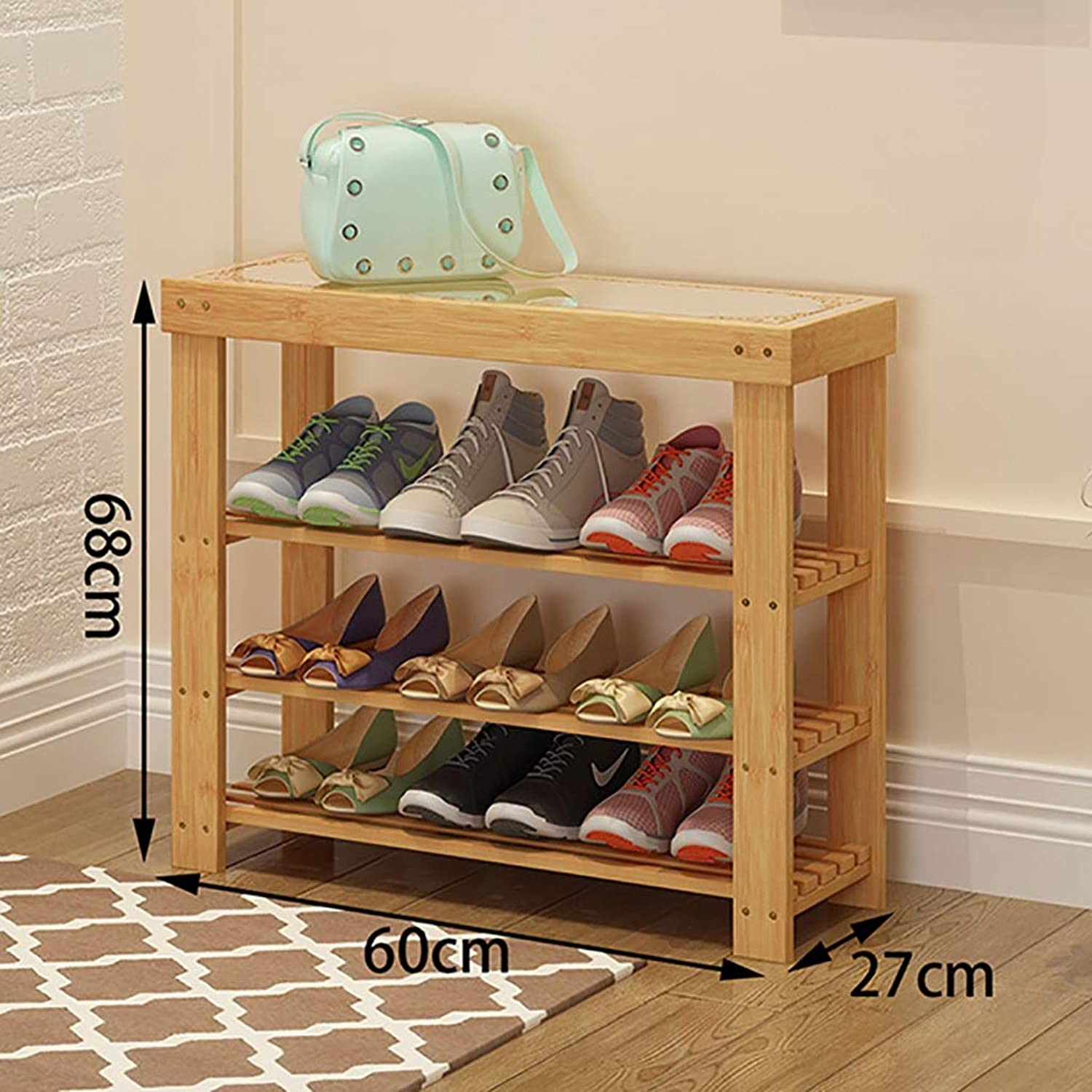 Modern Minimalist Home Change shoes Stool shoes Cabinet Clothing Store Sofa Stool into The Door Bamboo Long Bench Storage Stool Rest Stool. (Size   60  27  68cm)