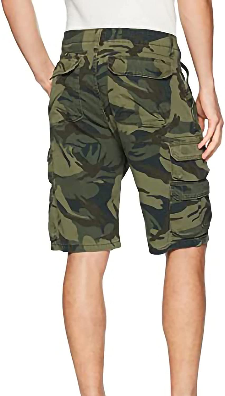 Men'S Casual And Comfortable Multi-Pocket Advanced Twill Overalls Shorts Classic Loose Stretch Overalls Shorts