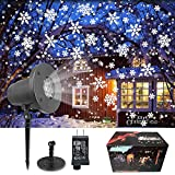 KITASST Christmas Projector Lights Outdoor, Upgrade Snowfall Projection Lamp, Waterproof Landscape Decorative Lighting for Holidays Halloween Xmas Party Indoor Outside