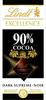 comprar comparacion Lindt Excellence – Tableta de chocolate negro 90% cacao, 100 g