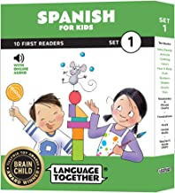 Spanish for Kids: 10 First Reader Books with Online Audio and English (Beginning to Learn Spanish) Set 1 by Language Together