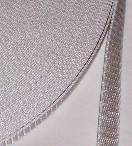 5 m Rolle Rolladengurt - grau - Breite 14 mm - hohe Reißfestigkeit - UV Beständigkeit - Schmutzunempfindlichkeit - beste Scheuerfestigkeit - Perlonkantenschutz