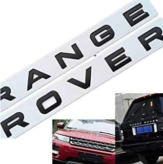 Silver Car Accessories Hood Emblem Logo Rear Badge Sticker Decal For Range Rover