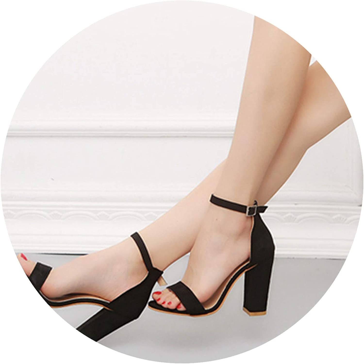 Wild Little Cat Ankle Strap Heels Women Sandals shoes Women Open Toe High Heels Sexy Dress Sandals Big Size 42