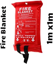 Fire Blanket 1 m x 1 m Quick Release In Soft Case For Home/Office/Caravan