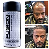 HAIR FUSION - 100% Real Human Hair Fibers - Conceal bald and thinning hair - Root touch up - Volumizer - Unisex (1.05, Black)