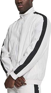 Urban Classics Men's Striped Sleeve Crinkle Track Jacket