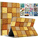 DuraSafe Cases for iPad Mini 4/5 2015/2019-7.9' A1538 A1550 A2124 A2125 A2126 A2133 Printed Folio Smart Cover with Protective Sleek & Classic Design - Brown Patchwork