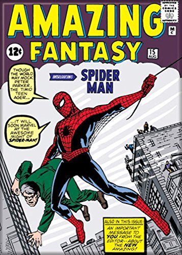 "Ata-Boy Marvel Comics Amazing Fantasy Spider-Man No. 15 2.5"" x 3.5"" Magnet for Refrigerators and Lockers"