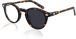 ZTM Transition Photochromic Reading Glasses, Acetate Frame Flat Lens Readers Sunglasses Men and Women - Anti Glare/Magnification from 0.50 to 6.00 Strength,+400