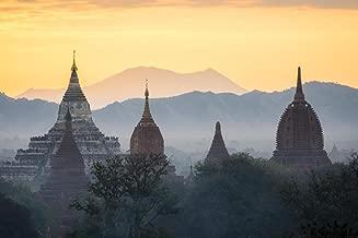 Mystic Sunrise Shwedagon Pagoda Yangon Myanmar Photo Art Print Cool Huge Large Giant Poster Art 54x36