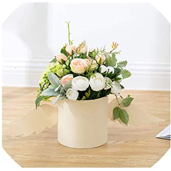 Amazon Com Flower Arrangement Box With Lid Flower Bucket Florist Bouquet Rose Boxes Floral Gift Packaging Box Wedding Diy Decor Pink 18w X18h Cm Health Personal Care