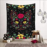 Brandless Cute Cat Tapestry Cat Wall Hanging Sheet Colgante de Pared Decoración para Dormitorio Sala de Estar Dormitorio Yoga Picnic Mat