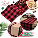SupMLC Cotton Buffalo Check Plaid Table Runner