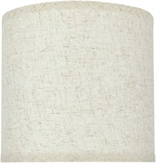 Aspen Creative 31051 Transitional Hardback Drum (Cylinder) Shape Spider Construction Lamp Shade in Flaxen, 8
