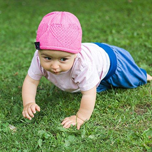 Baby DIY Stricken - Strickset Babymütze Babysocken Himbeerherzchen in rosenrot - Strickset Baby Socken – Baby Set: 2 Knäuel Baumwolle Cotton pure + Strickanleitung – Strickpackung Babystrickmütze
