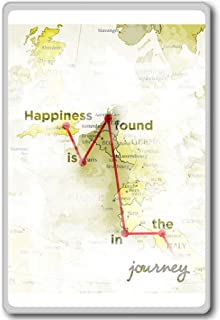 Happiness Is Found In The Journey - Motivational Quotes Fridge Magnet