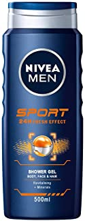 Nivea Men Żel pod prysznic do ciała, twarzy i włosów, butelka, sportowy (1 x 500 ml)