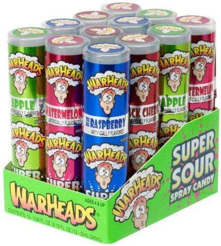 Warheads Super Saure Spray-Candy, 19.30 Gramm (Packung mit 24) verschiedene Geschmacksrichtungen