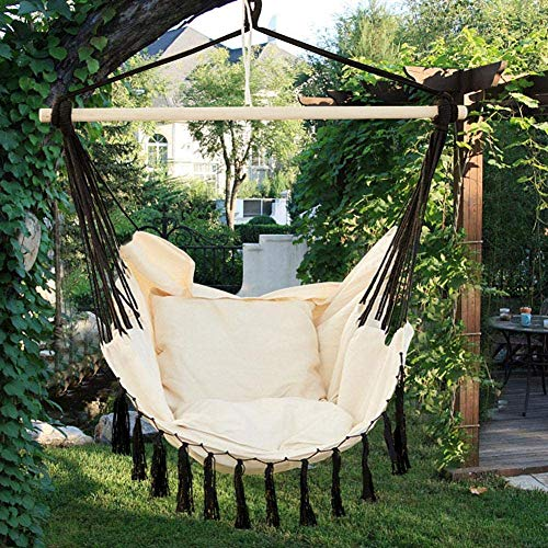 Hammock Chair, The seat Sling Swing, Swing seat Hammock Sling Chair (with Two mat),Black