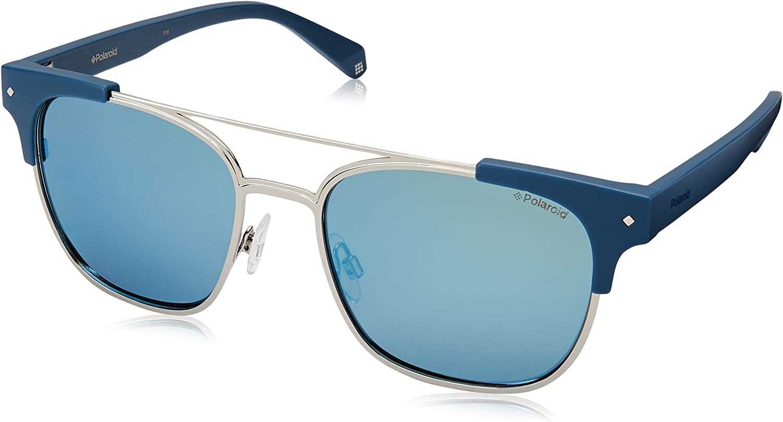 Polaroid Sunglasses Pld6039s Polarized Square Sunglasses MTT blueE 54 mm