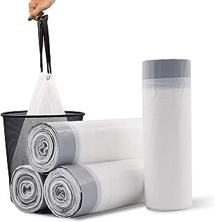Sponsored Ad - YIHATA Small Drawstring Trash Bag, 4 Gallon Trash Bags For Bedroom& Bathroom &Office& Kitchen (60 PC, White)