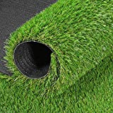 GRASSUN Realistic Artificial Grass Turf 24 in x 40 in, 5 Tone Fake Faux Grass Rug Indoor Outdoor Synthetic Turf Mat for Garden Lawn Patio Balcony, Mats for Dogs and Pets 24''x40''