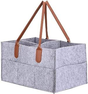 Felt storage caddy Baby Diaper Caddy Organizer Basket Portable Storage Bin Large Nursery Bag