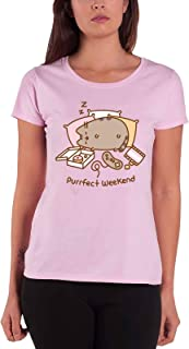 Pusheen T Shirt Purrfect Weekend Official Womens Skinny Fit