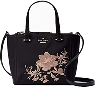 Kate Spade Mini Kona Embroidered Dawn Place Black Handbag