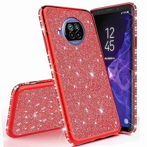 Miagon für Xiaomi Mi 10T Lite Glitzer Hülle,Bling Überzug Glänzend Strass Diamant Weich TPU Silikon Handy Hülle Etui Tasche Schutzhülle Case Cover