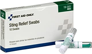 Pac-Kit by First Aid Only 19-001 Sting Relief Swab (Box of 10)