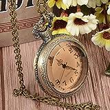 Xu Yuan Jia-Shop Reloj de Bolsillo Reloj de Bolsillo de la Vendimia Transparente Abierta de la Cara de los Hombres Hombres Mujeres 24horas Sub-diales Reloj de Bolsillo Reloj de Bolsillo Vintage